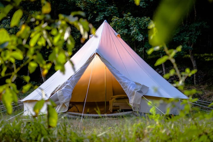 Tent on a RIVER with NATURAL SPA. Exclusive! - Tiglieto - Telt
