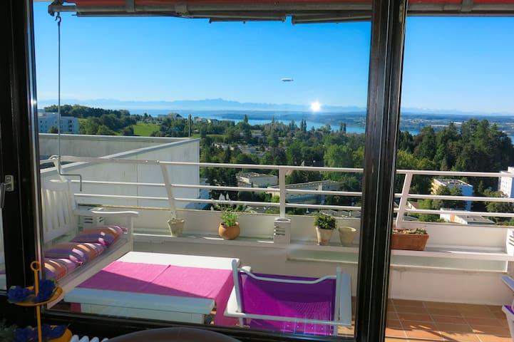 Genialer Panorama-Blick vom obersten Stock - WLAN - Überlingen - Apartmen
