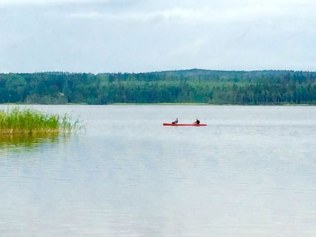 Lovely summer cottage with lake view - Tibro N