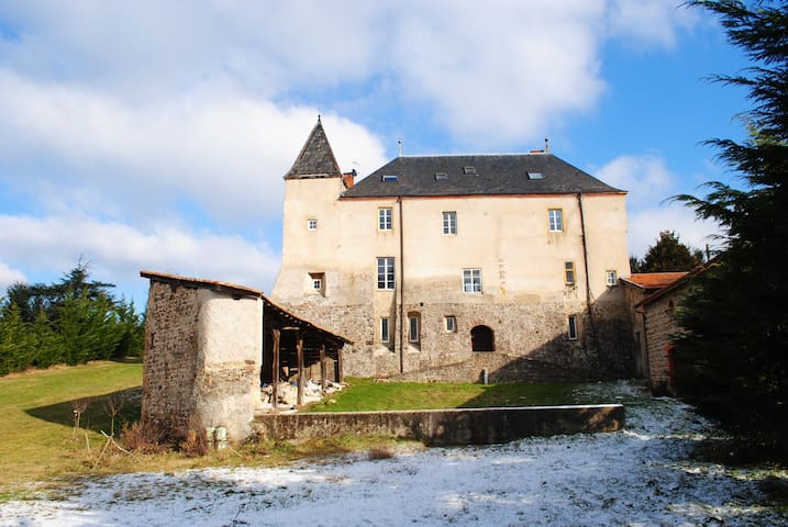 A 1h deLyon - Chambres dans château - Sainte-Colombe - Castillo
