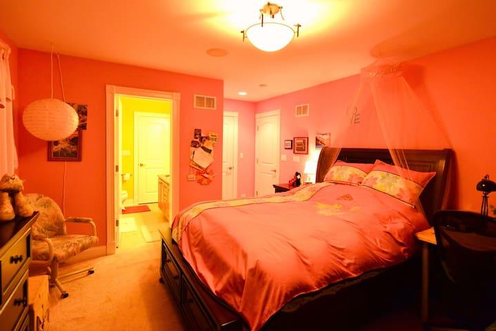 Charming RM, En-Suite Private BA, EuroTop QueenBed - Vernon Hills