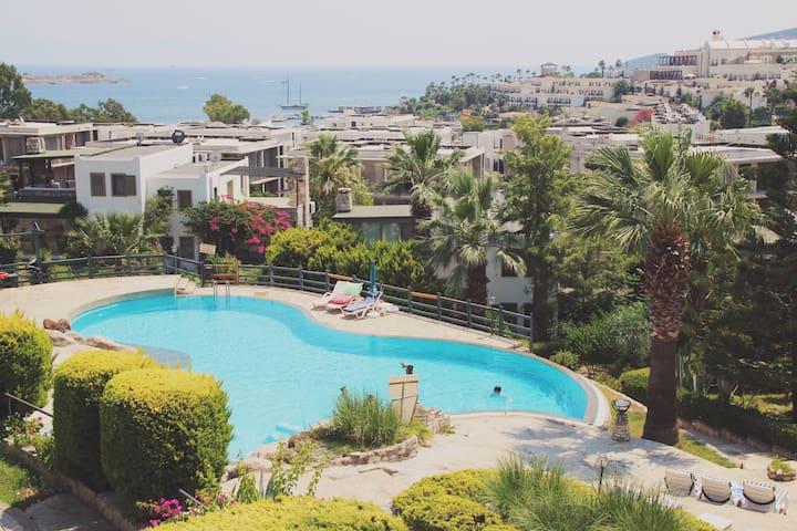 Sea View Garden Apartment - Bodrum - Apartament