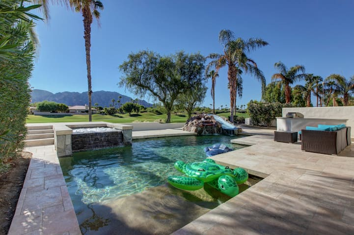PGA West, golf course, waterslide pool home - La Quinta