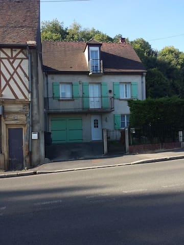 Chambre duo , sdb et wc privatif - Beauvais - Rumah