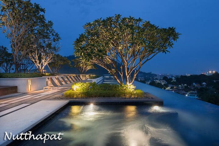 Luxury room & Roof top pool with Phuket city view - Phuket - Daire