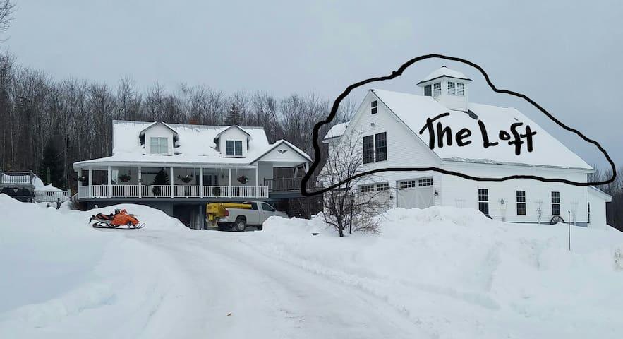 Lofty Stay in Western Maine - New Vineyard - Loft