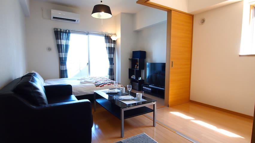 3minTenjinSta★TheMostPopularModernRoom/FreeWiFi#91 - Fukuoka-shi - Apartament