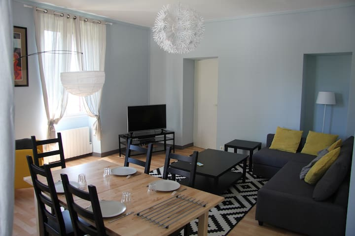 Clair appartement T3 Dax centre, jardin privatif - Dax - Apartemen