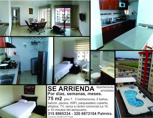 Furnished apartment in Palmira, Colombia - Palmira - Leilighet