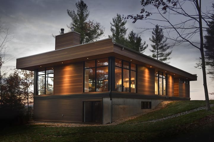 Spa et villégiature, Maison Ligna - North Hatley - Casa