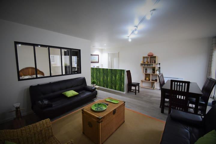 Appartement 1 à 6 personnes proche ttes commodités - Saint-Benoît - Departamento