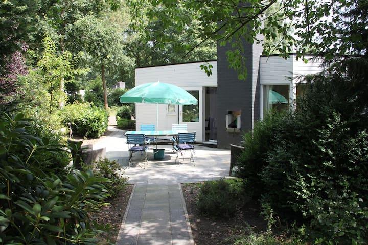 Kindvriendelijke bungalow in Erm, Drenthe. - Erm - Blockhütte