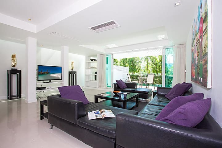 Golf villa 4 bed for 8 persons, pool, near Patong - Mueang Phuket