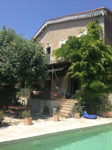 Large winemakers house with pool - Neffiès - Ev