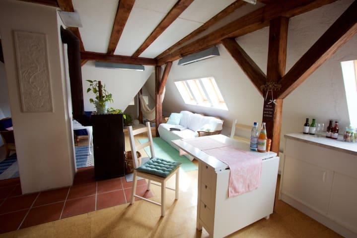 gemütliche Dachgeschosswohnung - Schwäbisch Gmünd - Leilighet