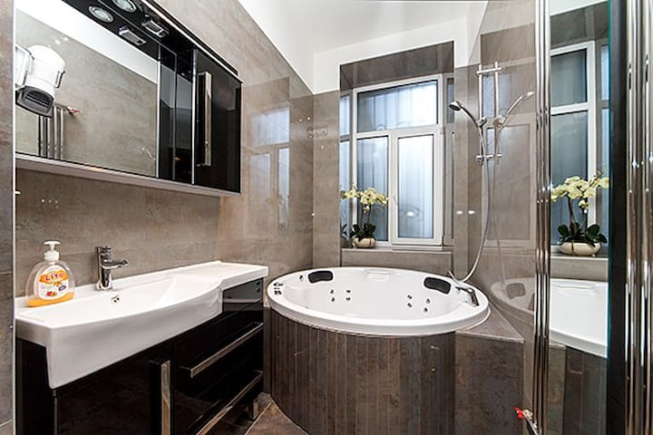 ★New luxury Jacuzzi studio Passage★Best location!★ - Kiev - Departamento
