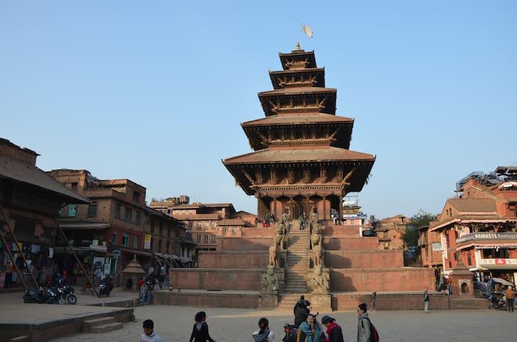 Cozy room near Hanuman Ghat and Taomadhi Square - Bhaktapur