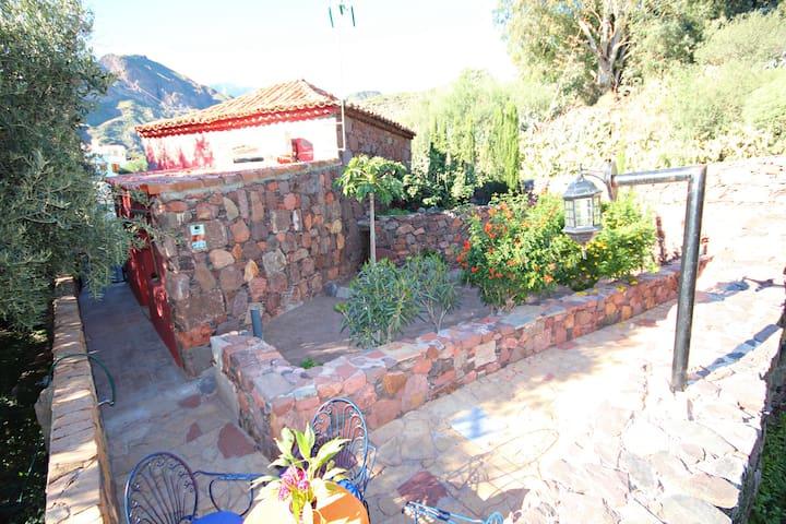 Lovely Cottage in Santa Lucia.Finca,garden,BBQ - サンタルシア・デ・ティラハナ - 別荘