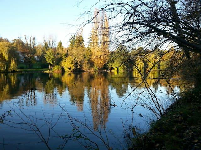 Au bord de l'eau au cœur parc ch 1 - Choisy-au-Bac - Oda + Kahvaltı