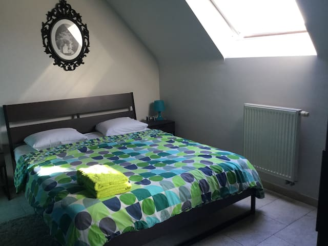 Kamer & badkamer in lichtrijk appt - Lendelede
