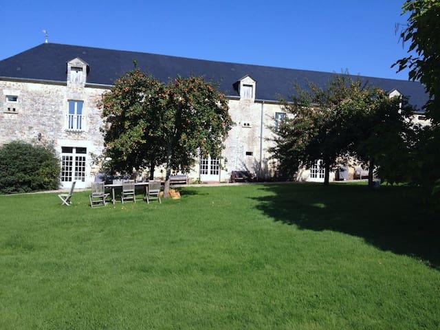 Demeure du 17ème siècle : Gîte 120 m2, le Pressoir - Fontaine-le-Pin - Natur lodge