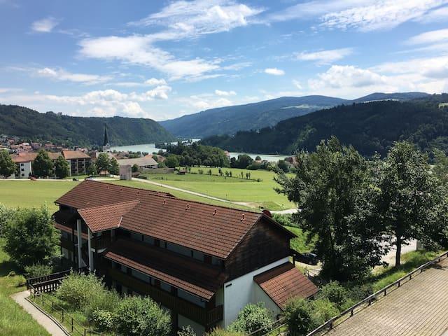 Donaublick Appartement mit Terrasse in Obernzell - Obernzell - Apartemen