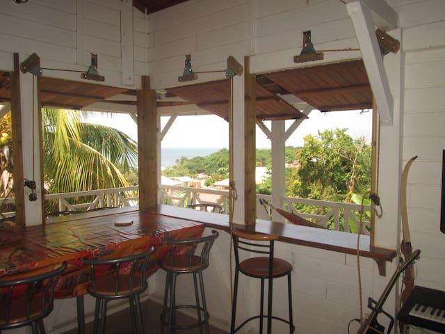 Belle vue mer, jardin, proche plages cocotiers - La Trinité - Dom
