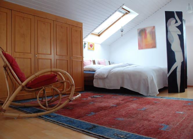 Loftwohnung im Voralpenland - Aying - Vindsvåning