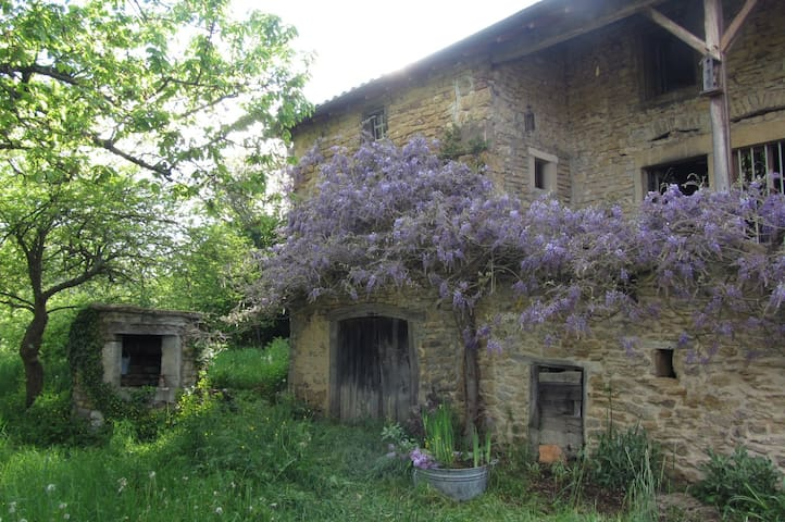 Vieille Ferme*Ecologique*  Cluny*15mins*TGV*20mins - Montagny-sur-Grosne - Aarde Huis