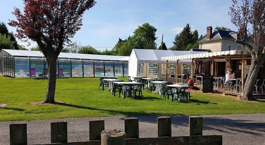Location Mobil-home sur camping 3 étoiles - Le Bec-Hellouin - Bangalô