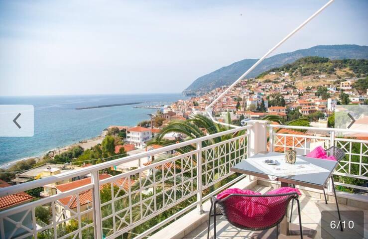 Studio Apartment - Sea view - Plomari - Daire