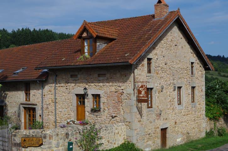 luxe gîte sfeervol,verwarmd zwembad - Bourgogne - Hus