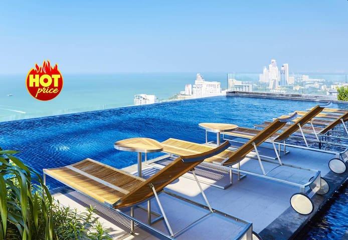 1 BR Sea View in  Pattaya 100 meters to Beach  - Pattaya
