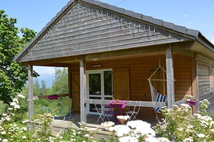 Petit chalet  dans un camping de 16 000 m2 , - Saint-Hilaire