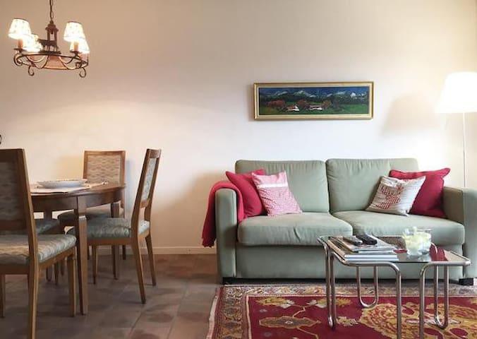Lovely alpine Apartment with panoramic view - Samedan - Leilighet