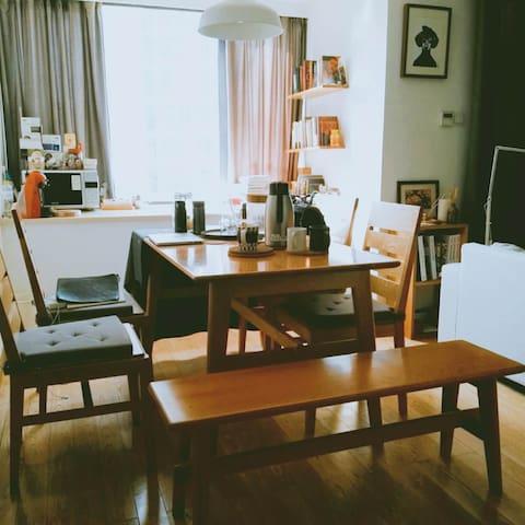 (地铁旁)日式简约loft小公寓(谢绝拍摄需要的住宿申请) - 杭州 - Daire