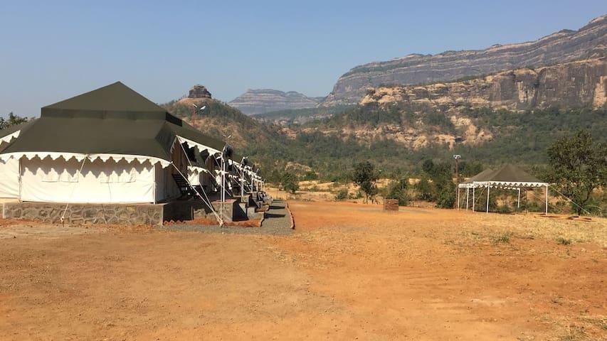 Maharaja Luxury tent houses at Karjat - Raigad