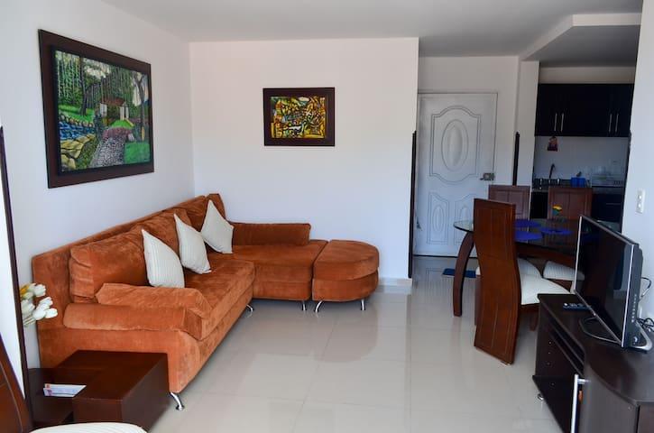 New central apartment - Apto nuevo parque central - San Gil - Leilighet