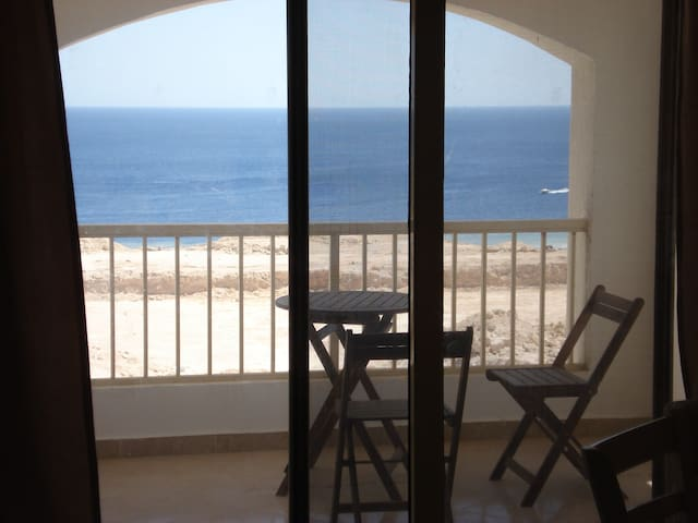 Sea view apartment for rent in Montazah Sharm - Daire