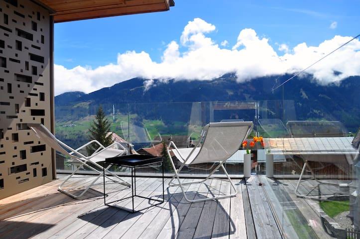 Panoramic ecodesign house near mountain lake (8p) - Vignogn - 公寓