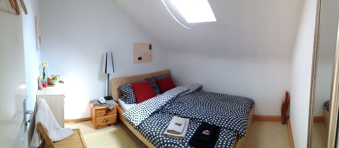 Private, cozy, bright room for 2 in a quiet area - Ludwigsburg - Apartemen