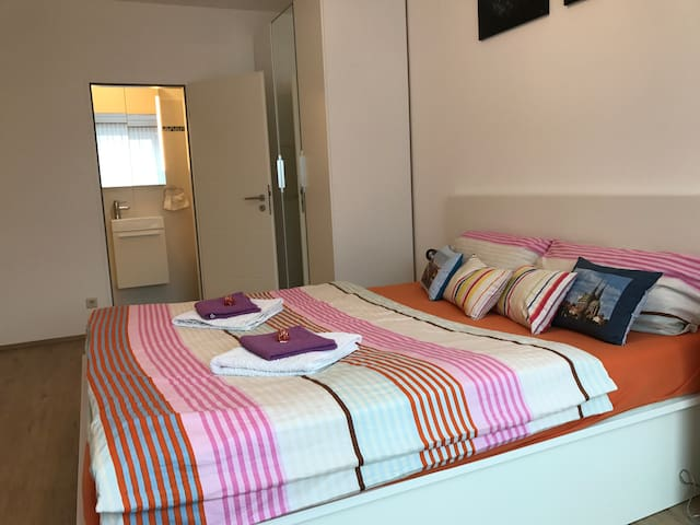 Modern room with private bathroom in Centre - Luxemburg - Appartement