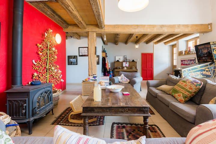 Modern room in charming farm - Cernex - Casa