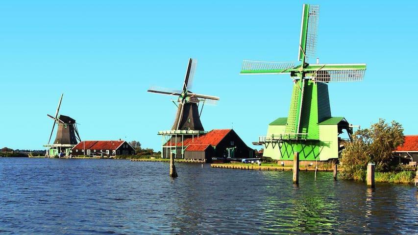 Studio晝房,阳光充沛的別墅帶後花園,near Amsterdam - Пюрмеренд - Таунхаус