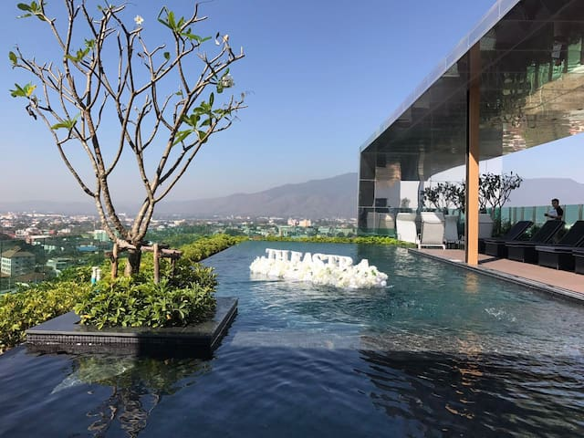 1 Bd. in the Luxury condo 5min to Night Bazzar - Thesaban Nakhon Chiang Mai - Daire