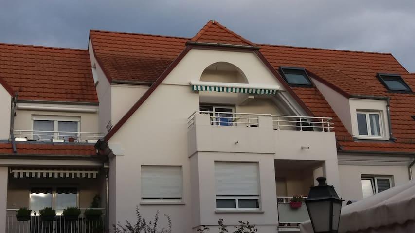Joli appartement cosy DUPLEX proche STRASBOURG - Geispolsheim