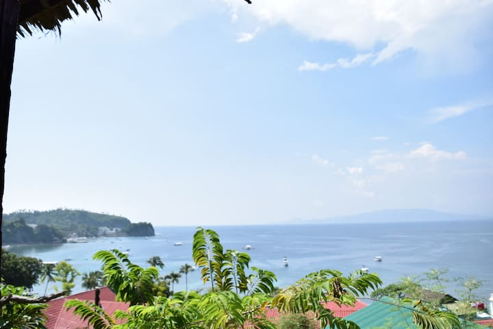 patio, hammock, panoramic oceanview - Puerto Galera - Bungalow