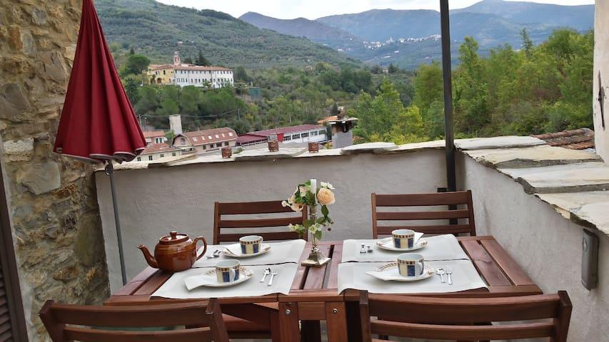 Tipica Casa Oasi Rustico Liguria Rivera - Borgomaro - Hus
