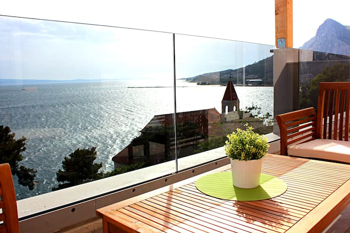 ❤★ Ap3_W spacious apartment with sea front view★❤ - Omiš - Appartement