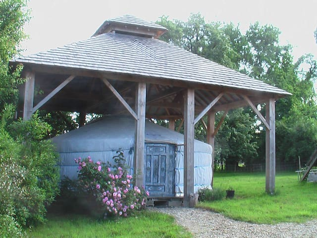 Mongol Yurt and Japanese bath! - Saint-Denis-de-Villenette - ユルト